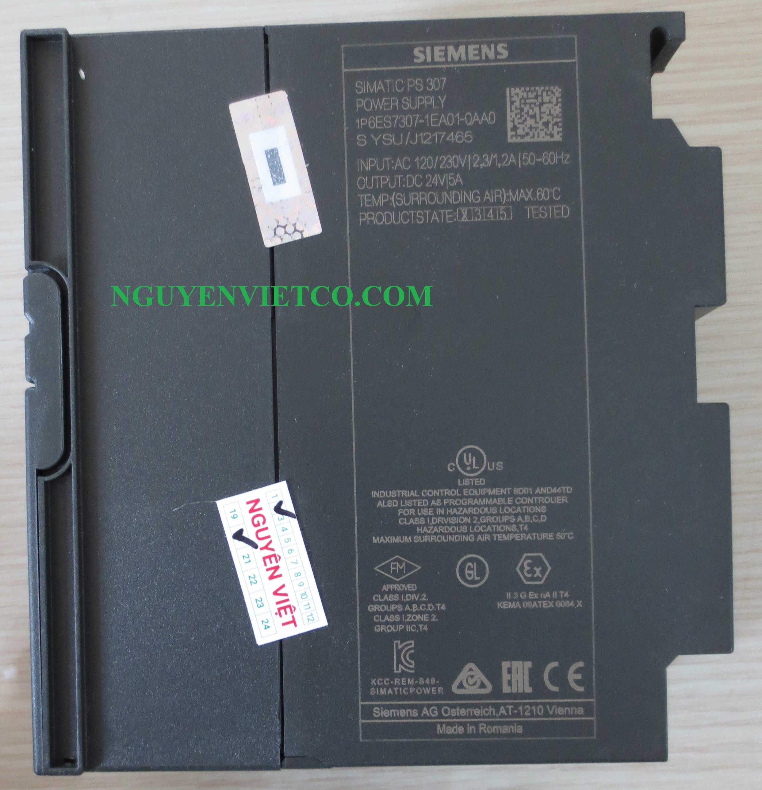 Siemens Power Supply PS 307